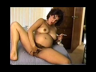 Pregnant smoking milf part 2