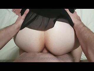 Thick booty takes quick anal fuck short