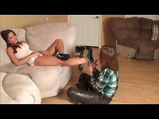 Lesbian sock worship revenge