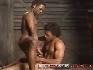 Handsome black men fuck on a train bullet videopac 12 black bullet