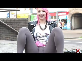Pornxn dolly kitten bares it all in public