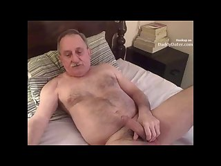 Hairy silverdaddy sucking my uncut cock
