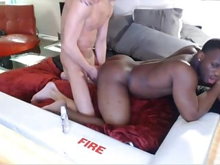Hot interracial couple fucking again on cam black man is a god