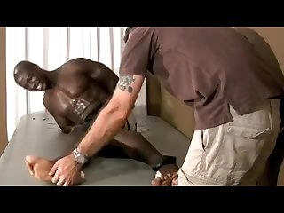 Black Bodybuilder Tickled to Tears (crying)