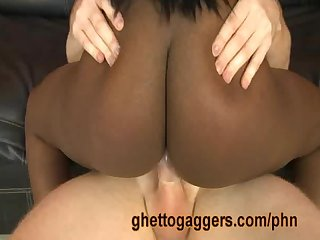 Ebony slut fergie has rough sex with a white dude