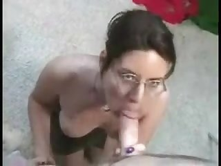 Amateur blow and cumshot