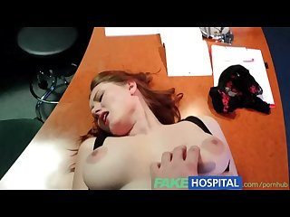 Fakehospital doctors compulasory health check makes busty temporary hospita