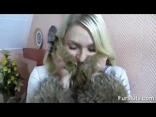 Fur coat fucking