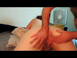 Chase drinks my squirt and cums on my tits