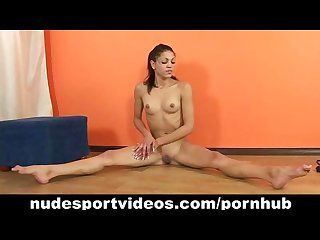 Sweet teen babe enjoys nude sports