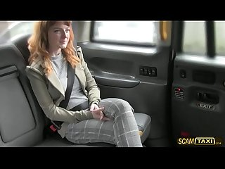 Hottie Euro girl gets pussy slammed hard by pervy drivers big cock