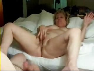 Old pervert wife masturbating in front of me amateur older