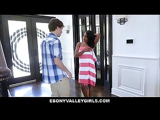 Sexy Rich Black Teen Lala Ivey Fucked To Orgasm By Young White Boy Neighbor