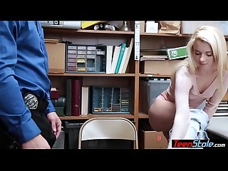 The hottest Teen thief got caught and punish fucked