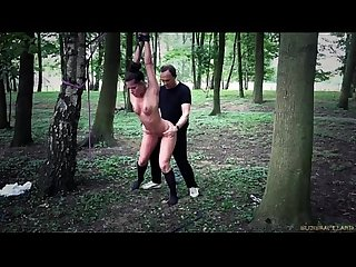 Athina tied in the Forest and doggie fucked more in http quainator com cxn