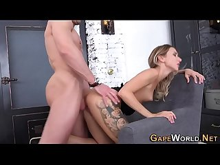 Horny slut has anal sex