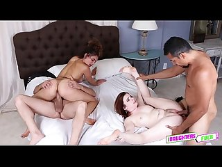 Karlie Brooks and Payton Bank riding large massive dick