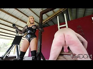 Goddess Vanessa is hot for caning