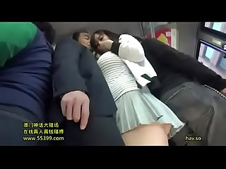 Big tits asian teen girl publicly fucked in a bus