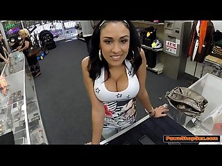 Sexy latina gets nailed by pawnshop owner in his office