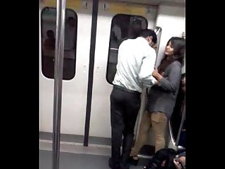 Couple in delhi metro