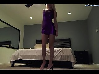 Skinny blonde slut strips and plays with her pussy on webcam paxcams period com