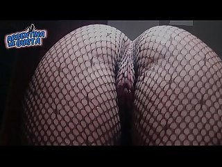 Fishnet catsuit period perfect round Ass and cameltoe