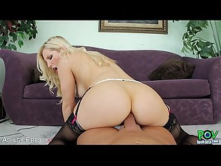 Blond Ashley Fires suck a big cock in POV