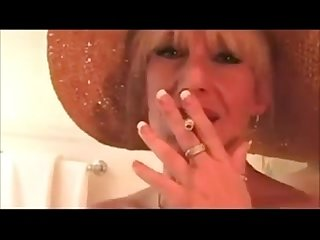 Busty mom smoking teasing and fucking
