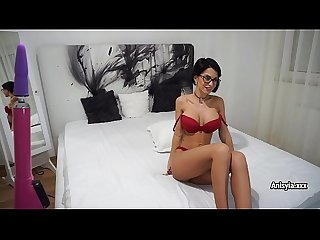 Busty slut Anisyia masturbation for orgasm