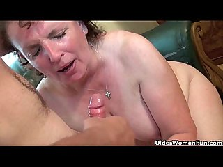 Chubby moms try the hardest to please your cock