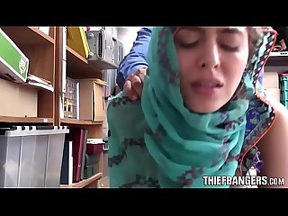 Audrey royal busted stealing wearing a hijab fucked for punishment
