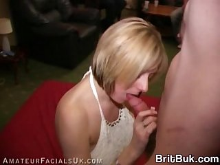 Wonderful milf takes a cum mask bukkake