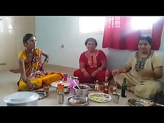 Village Aunties enjoying party with wine than fucking with her husbands... HD