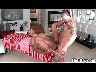 Rubgay mature oily anal