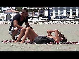 Young spaniard pickup on the beach for 37 and fucked