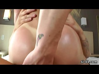 Statuesque blonde Ts babe nikolly gaucha sucks and rides rock hard dick