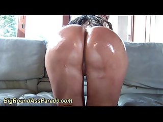 Oiled up booty ho sucks