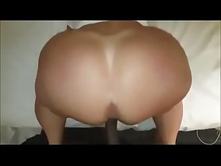 Big booty white Redhead Milf loves big black dick