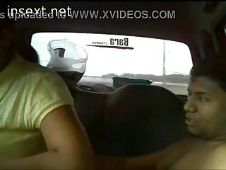Brother fucking his busty sister in the car