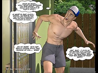 CUMING OUT AMERICAN STYLE 3D Gay Cartoon Animated Comics