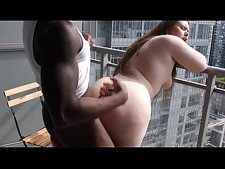 INSTAGRAM MODEL @MissBunnySteph FUCKED ON HOTEL BALCONY
