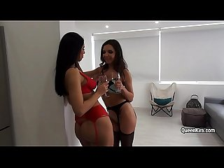 Sexy Kira Queen gets dirty with pretty lesbian bitch Henessy