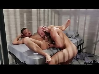 Gay sex in prison with hot bearded men