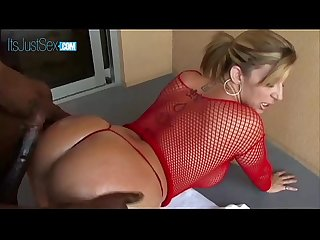 Sara Jay Takes Off Her Tiny Gstring And Slides A BBC Inside