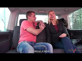 Cheap old slut on the street came to fuck for free in van with dude