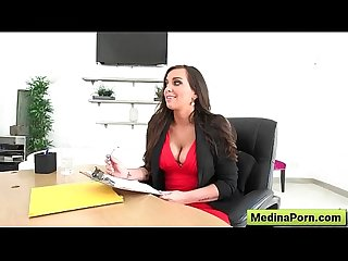 Busty slut get banged in the office 08