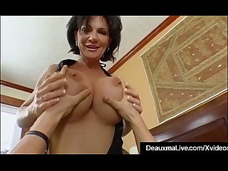 Mature milf deauxma has big squirting orgasm with boy toy excl