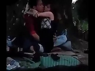 Myanmar spying young couple outdoor sex 21