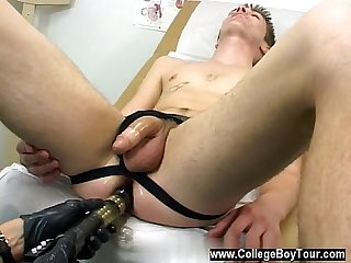 Gay feet chastity Dr.PhingerPhuk has Ashton eliminate his T-shirt and